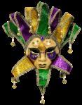 Máscara Carnaval - Arlequim green yellow