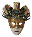 Máscara Carnaval - Arlequim mistério