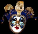 Máscara Carnaval - Arlequim musical blue