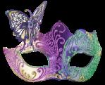 Máscara Carnaval - Borboleta e brilhantes