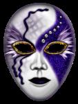 Máscara Carnaval - Mistério blue