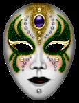 Máscara Carnaval - Mistério green gold