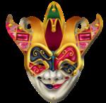 Máscara+Carnaval+-+Arlequim+diabólico
